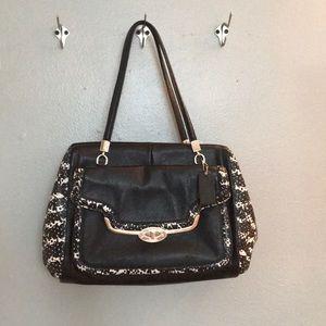 Coach black/white Handbag